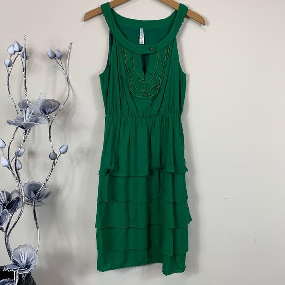 Anthropologie Dresses & Skirts - Maeve Anthropologie green Teresina tiered dress